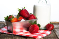 Fresh Strawberries and cream Royalty Free Stock Photo