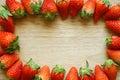 Fresh strawberries frame Royalty Free Stock Photo