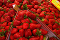 Fresh strawberries in a market in spain Stock Image