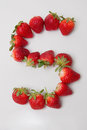 Fresh strawberries a nice display of in the shape of the letter s Royalty Free Stock Images