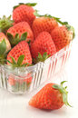 Fresh Strawberries in original packaging Royalty Free Stock Image