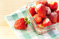 Fresh strawberries with sugar sweet food Royalty Free Stock Photography