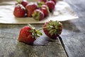 Fresh strawberries supermarket don t hold a candle to these Stock Photography