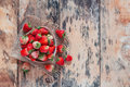 stock image of  Fresh strawberries on wooden.