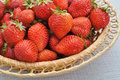 Fresh strawberry in the basket Royalty Free Stock Photography
