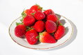 Fresh Strawberry in dish Royalty Free Stock Photo