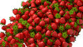 Fresh strawberry flow or stream Royalty Free Stock Photography