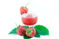 Fresh strawberry and juice strawberry s on white background Stock Image