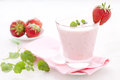 Fresh strawberry shake Royalty Free Stock Photo
