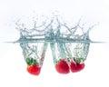 Fresh strawberry with water splash Royalty Free Stock Photo
