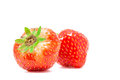 Fresh strawberry on white background Stock Photo
