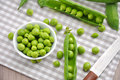 Fresh sugar snap pea on a table Stock Photography