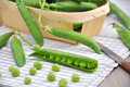Fresh sugar snap pea on a table Stock Images