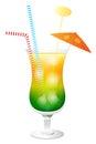 Fresh Summer Cocktail Illustration Stock Photography