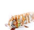 Fresh sushi choice combination assortment selection macro closeup of Royalty Free Stock Images