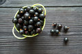 Fresh sweet blackcurrants in the bowl Royalty Free Stock Photo