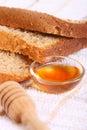 Fresh sweet honey bread Royalty Free Stock Photos