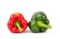 Fresh sweet pepper bell or capsicum on white background Royalty Free Stock Images