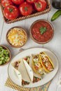 Fresh taco and ingredients Royalty Free Stock Photography