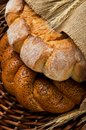 Fresh tasty bread (kalatches) close up Stock Photography