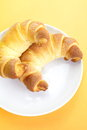 Fresh and tasty croissant over white background Royalty Free Stock Image