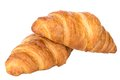 Fresh and tasty croissant over white background two isolated on Royalty Free Stock Image