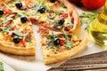 Fresh tasty pizza Royalty Free Stock Photo