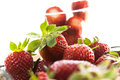 Fresh and tasty strawberries healthy food Royalty Free Stock Image