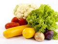Fresh tasty vegetables still-life. Royalty Free Stock Photo