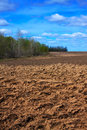 Fresh tillage ploughed field Stock Photos