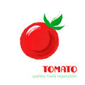 Fresh tomato isolated on white background.
