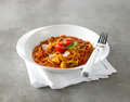 Fresh tomato pasta sauce and blend the plain beef Royalty Free Stock Photo