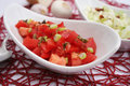 Fresh tomato salad Royalty Free Stock Photo