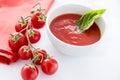 Fresh tomato soup Royalty Free Stock Photo
