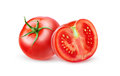 Fresh tomatoes isolated on white background Stock Images