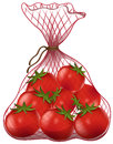 Fresh tomatoes in net bag Royalty Free Stock Photo