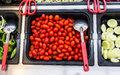 Fresh tomatoes red in salad bar Royalty Free Stock Image