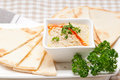 Fresh traditional moutabal baba ghanoush eggplant dip Stock Photos