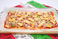 Fresh tuna pizza a with fish Royalty Free Stock Photography