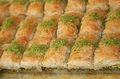 Fresh turkish greek cake baclava also known as baklava Royalty Free Stock Photography