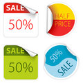 Fresh two colors sale labels Royalty Free Stock Photo
