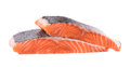 Fresh uncooked red fish fillet slices. Royalty Free Stock Photo