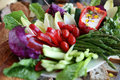 Fresh vegetable crudite platter Royalty Free Stock Images