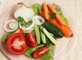 Fresh vegetable on platter Royalty Free Stock Photo