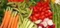 Fresh Vegetable Platter Royalty Free Stock Photo