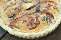 Fresh Vegetable Quiche Stock Photography