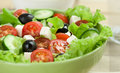 Fresh vegetable salad close up Stock Photos