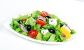 Fresh vegetable salad greek salad useful vitamin food Stock Images