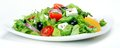 Fresh vegetable salad greek salad useful vitamin food Royalty Free Stock Images