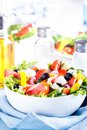 Fresh vegetable salad greek salad useful vitamin food Stock Image